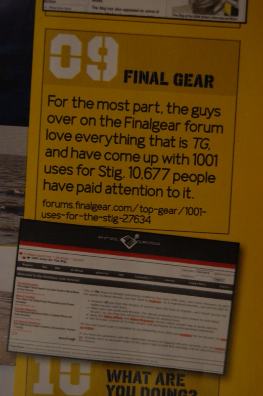 Final Gear in Top Gear Magazine scan